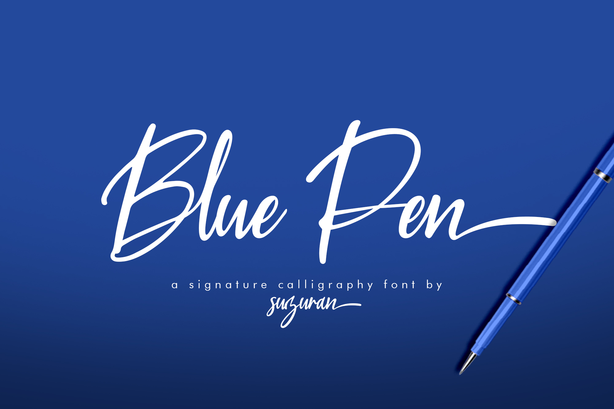 Blue Pen 3 Fonts example image 1