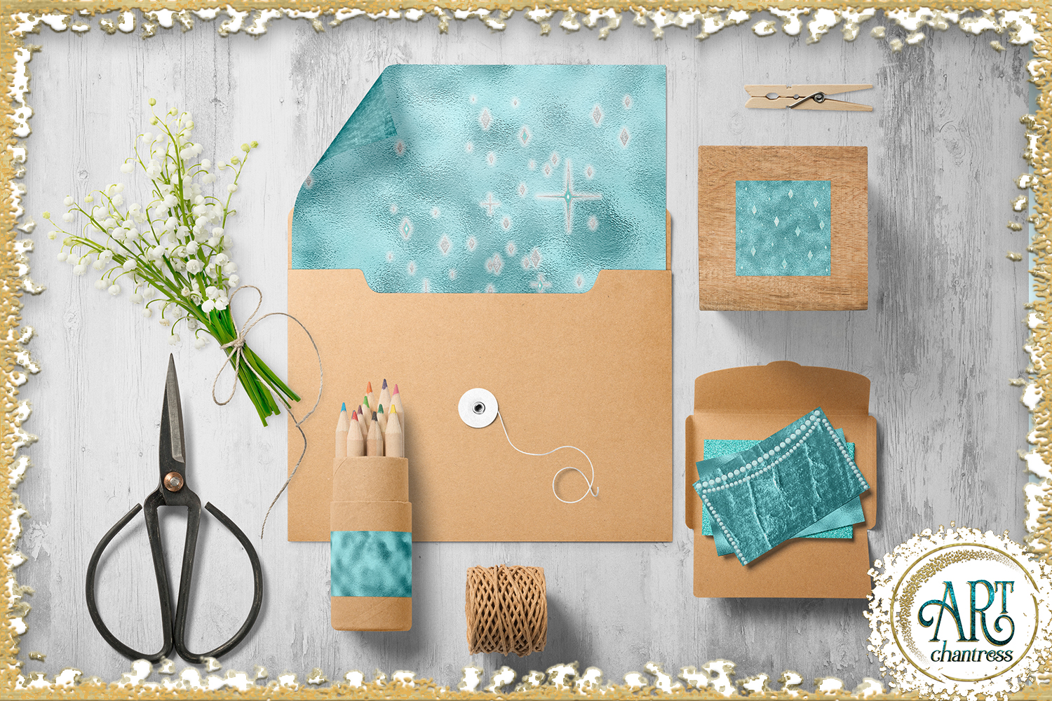 Blue Glitter Digital Papers example image 9