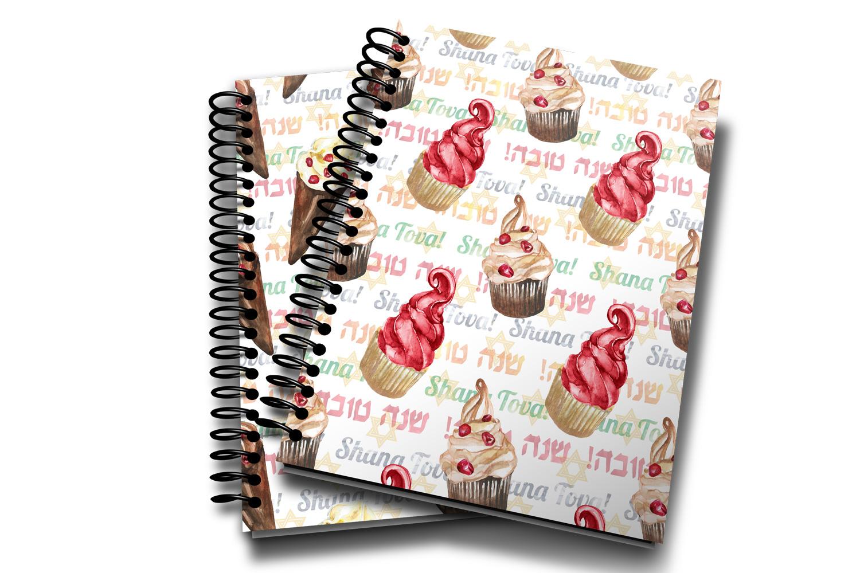 Watercolor Rosh Hashanah seamless digital paper pack example image 6