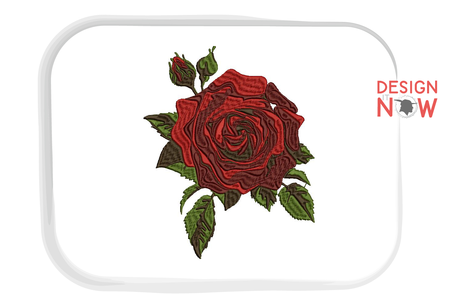 Rose Embroidery Design, Rose Embroidery, Flower Design example image 1