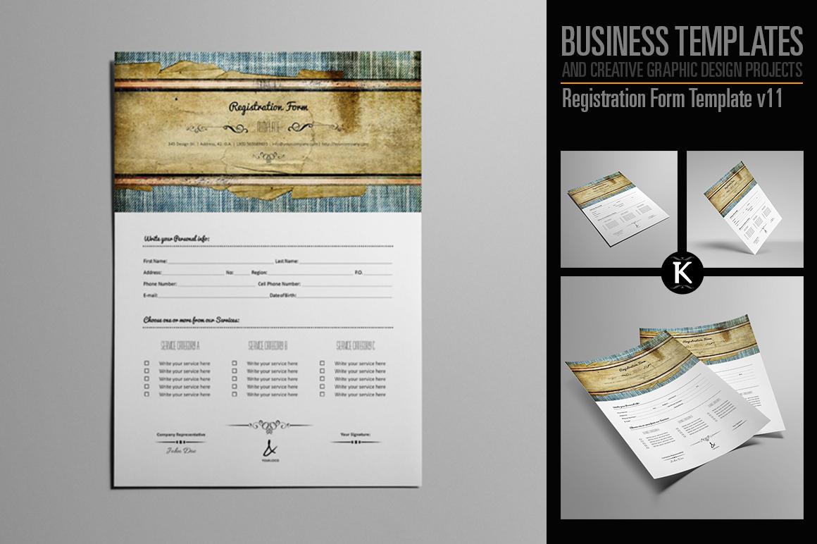 Registration Form Template v11 example image 1