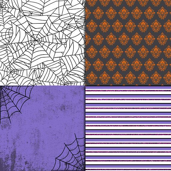 Halloween Digital Paper example image 3