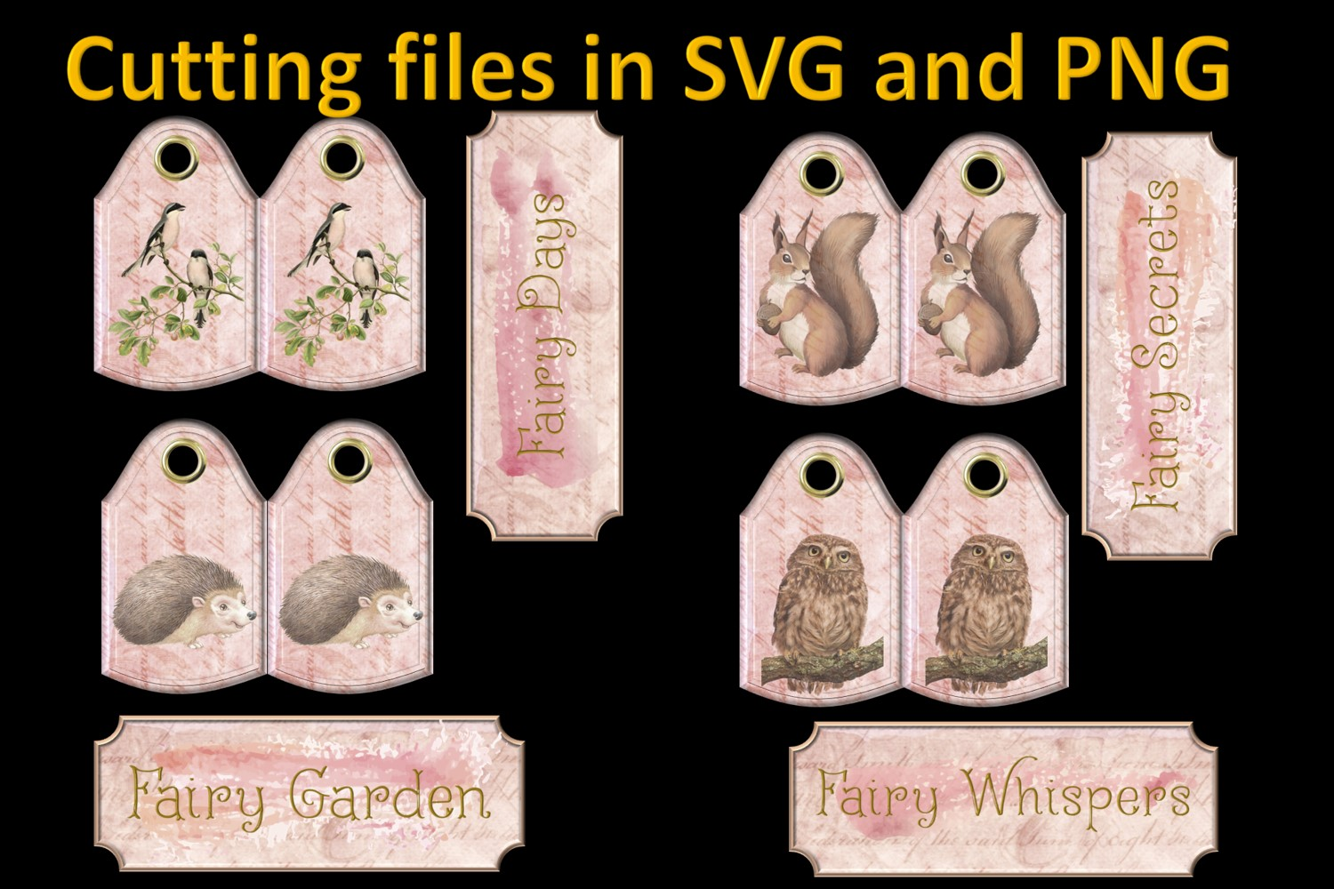 Fairy Mega Bundle. 24 backing papers 80 piece total CU example image 11