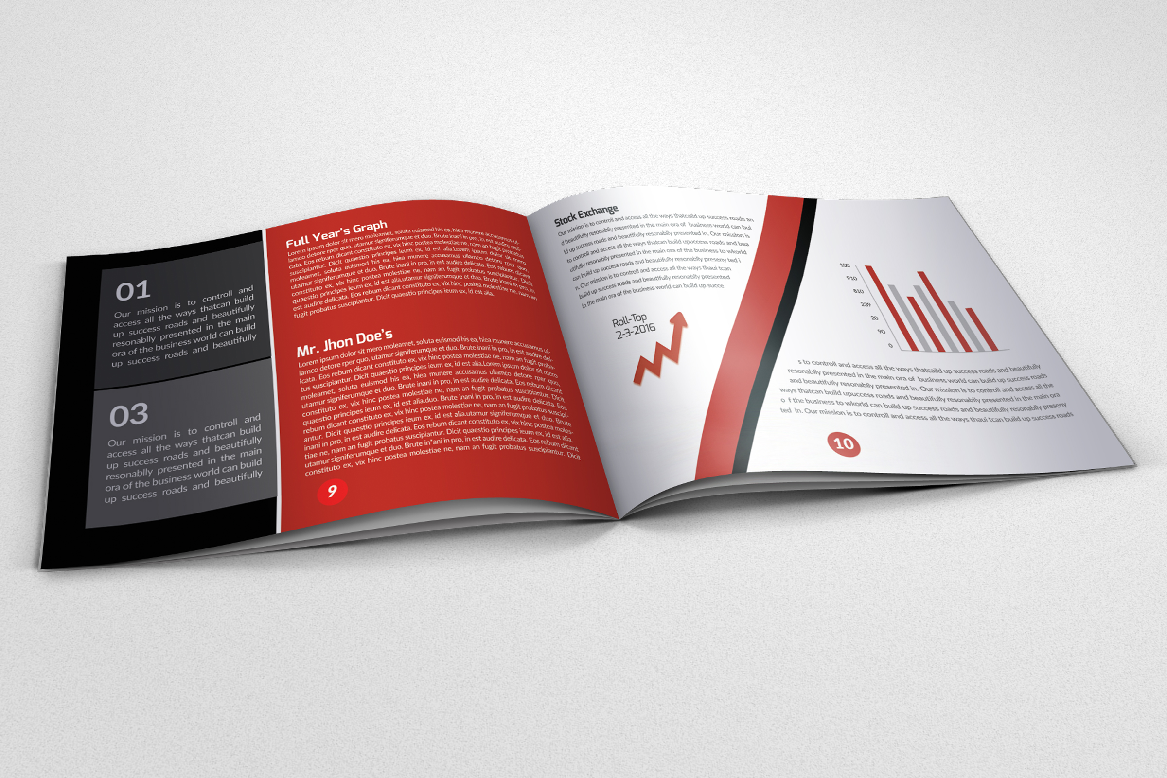 20 Pages Catalogue Business Bifold Brochure  example image 7
