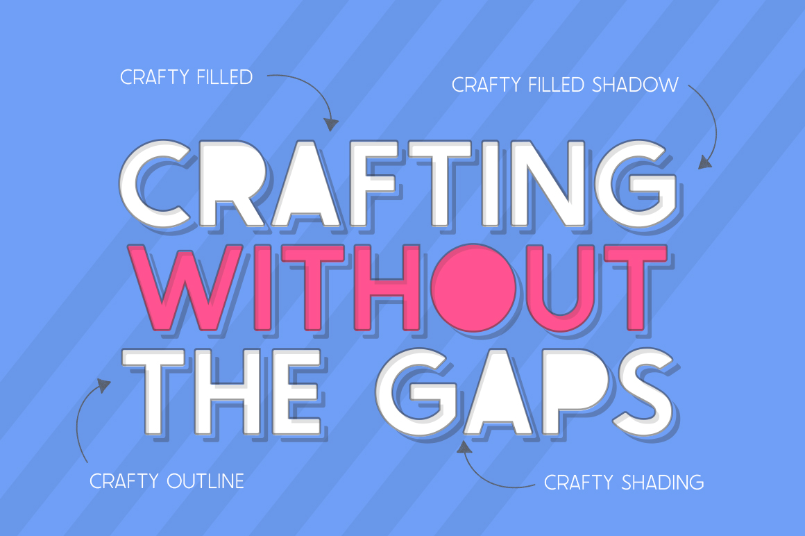 The Crafty Font Collection - 24 Fonts example image 8