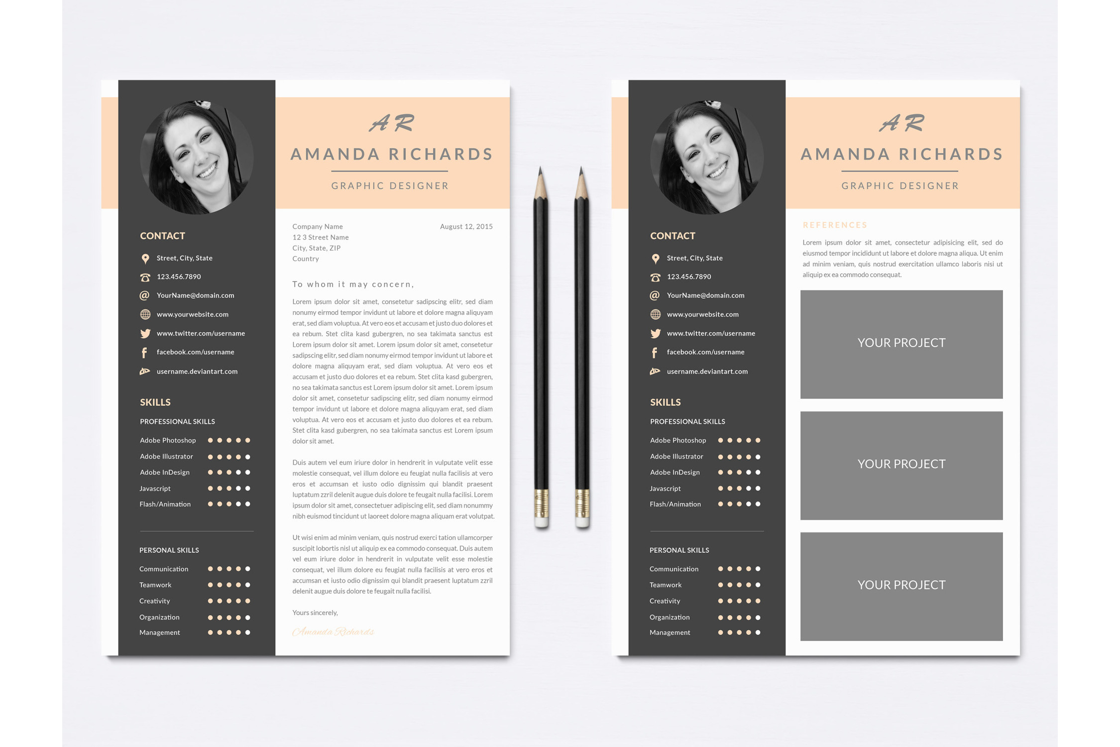 Resume Template for Photoshop example image 2