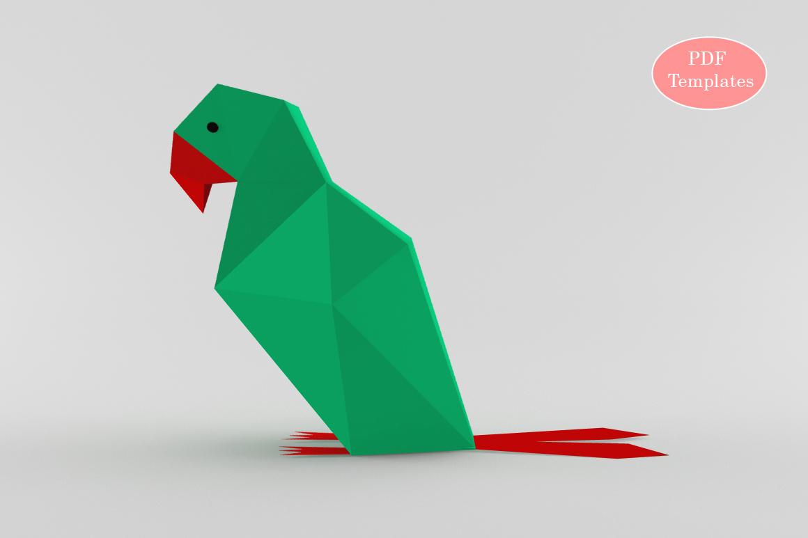 DIY Parrot - 3d papercraft example image 3