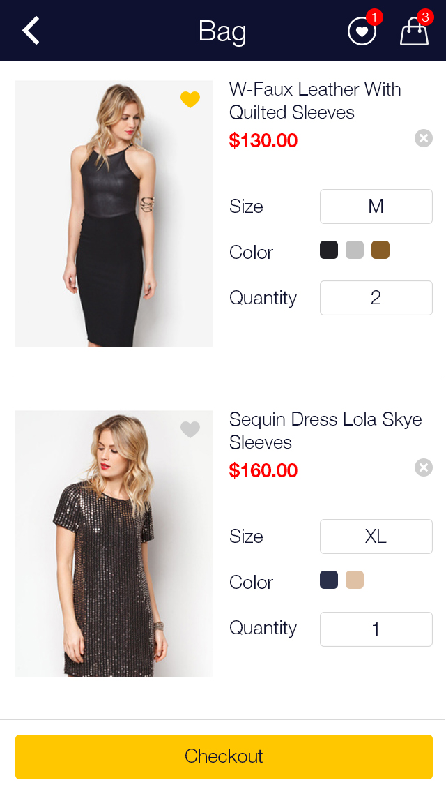 Zalora Shopping UI for e-commerce example image 9