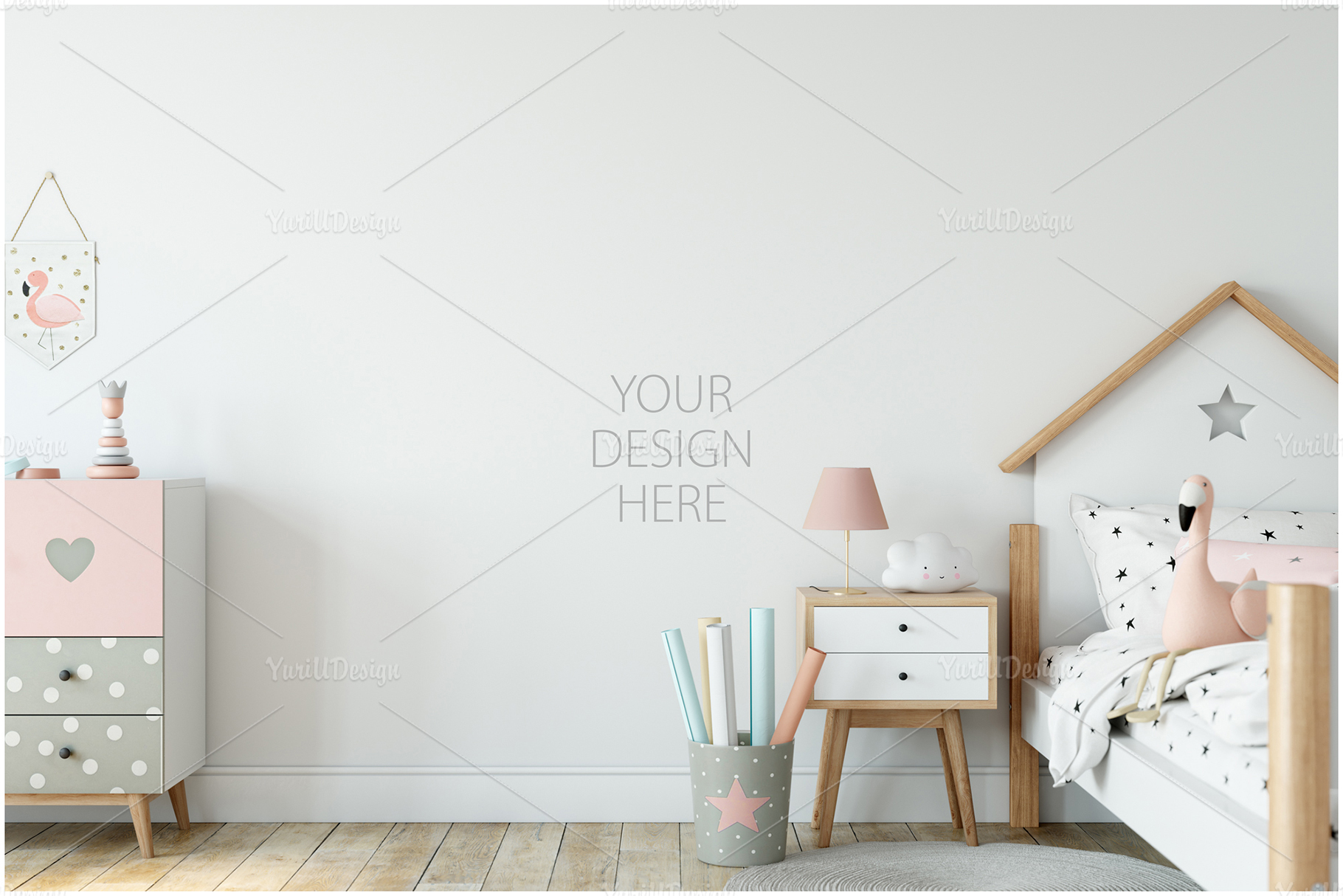 Kids Frames & Wall Mockup Bundle - 5 example image 17