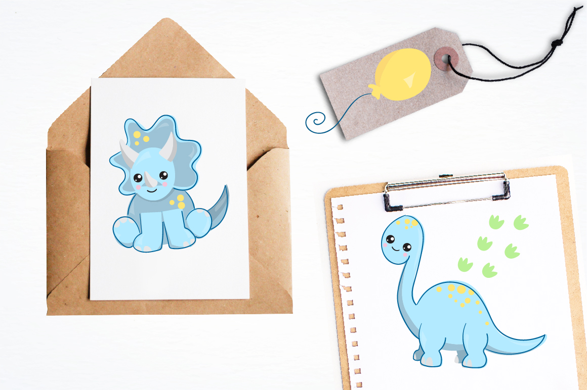 Nursery dinosaurs graphics and illustrations example image 4