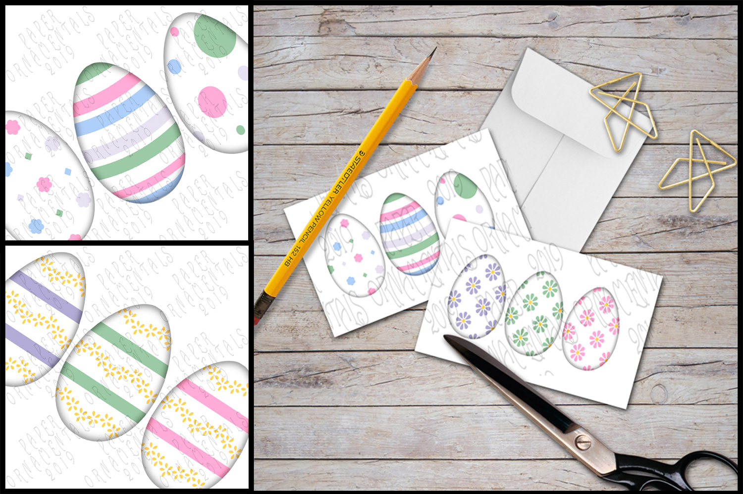 Note Cards, Easter Mini Gift Enclosure Cards Set 1 example image 2