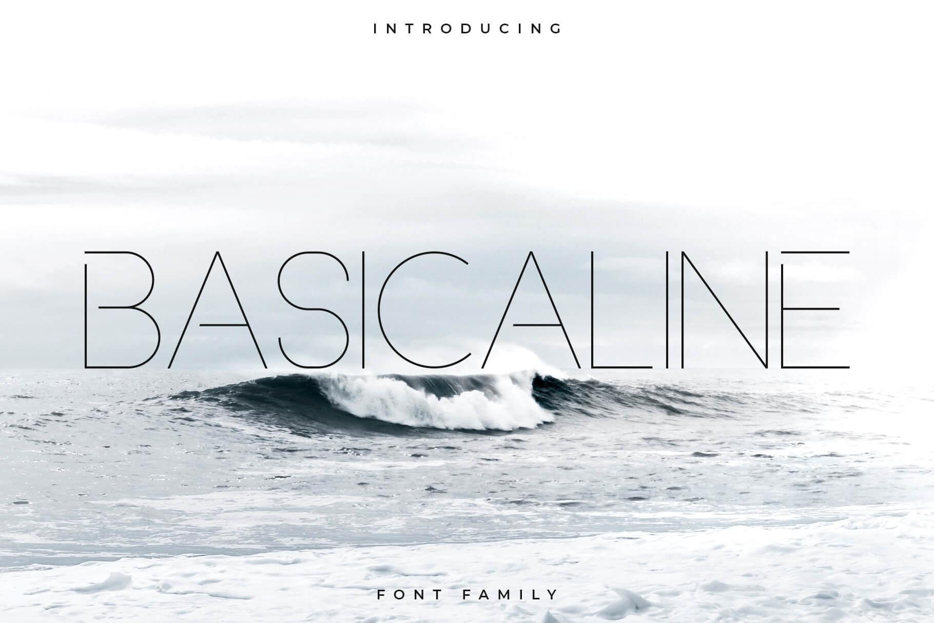 Basicaline Font Family - Sans Serif example image 1