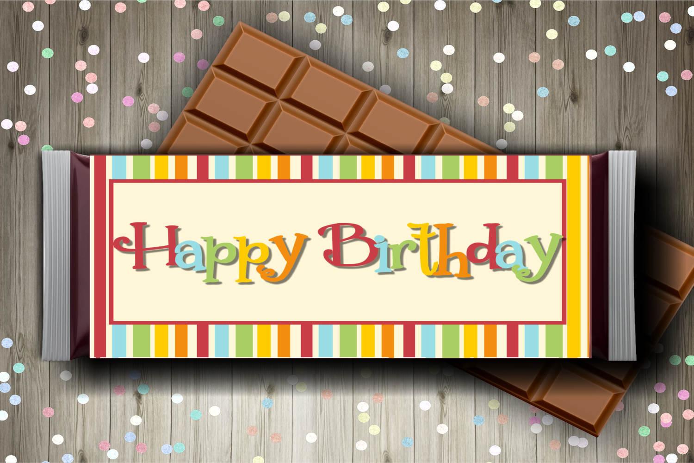 Rainbow Birthday Candy Bar Wrapper Set example image 2