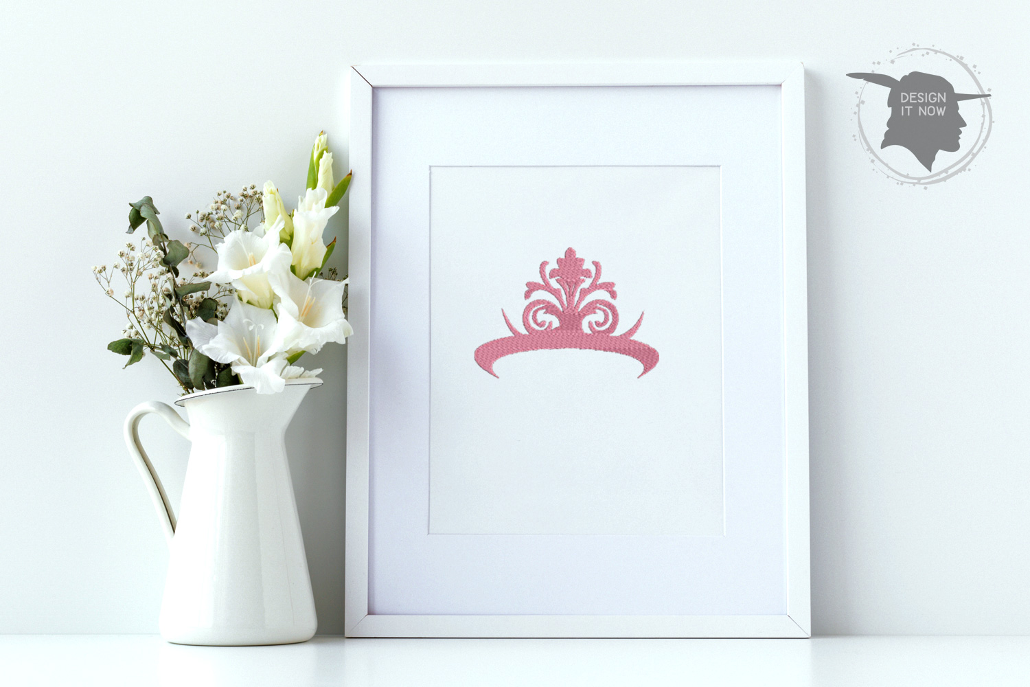 Princess Embroidery Design, Crown Embroidery Pattern example image 3