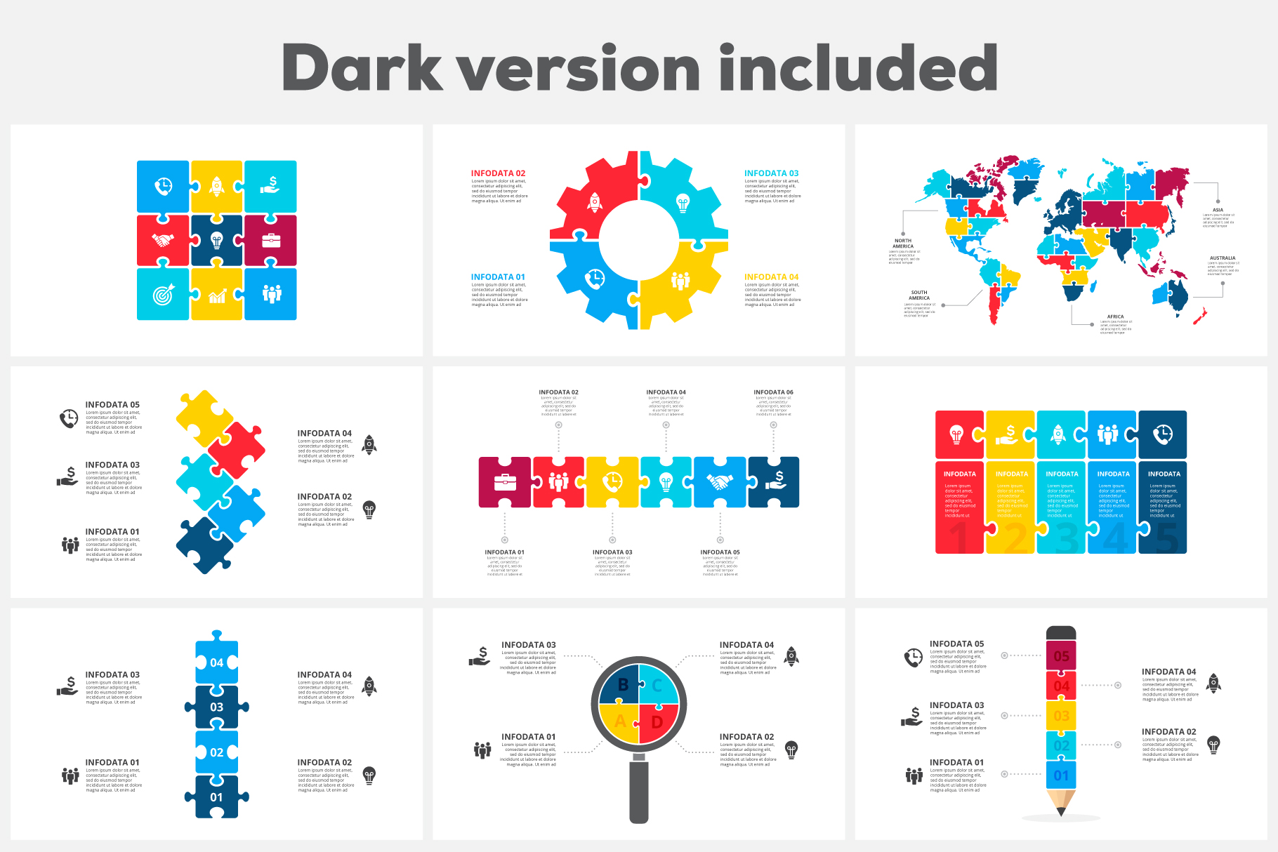 Puzzle Animated Infographics example image 4