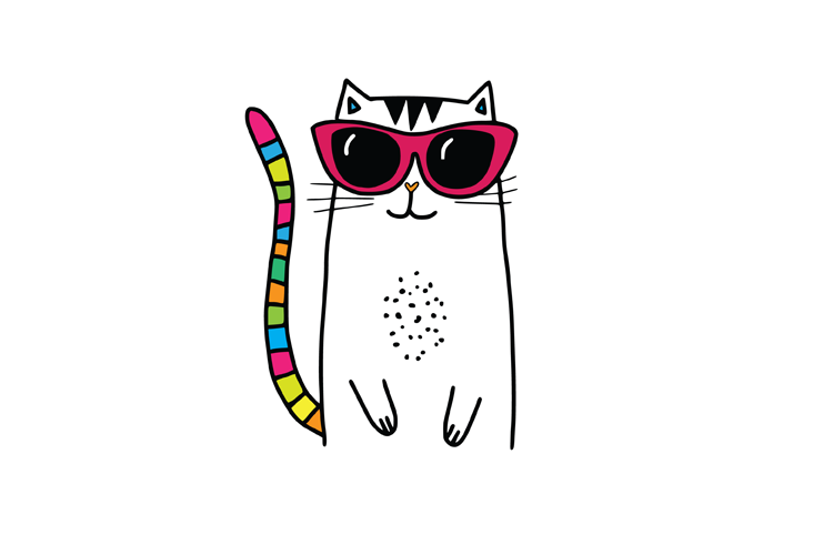 Cool Cat SVG example image 2