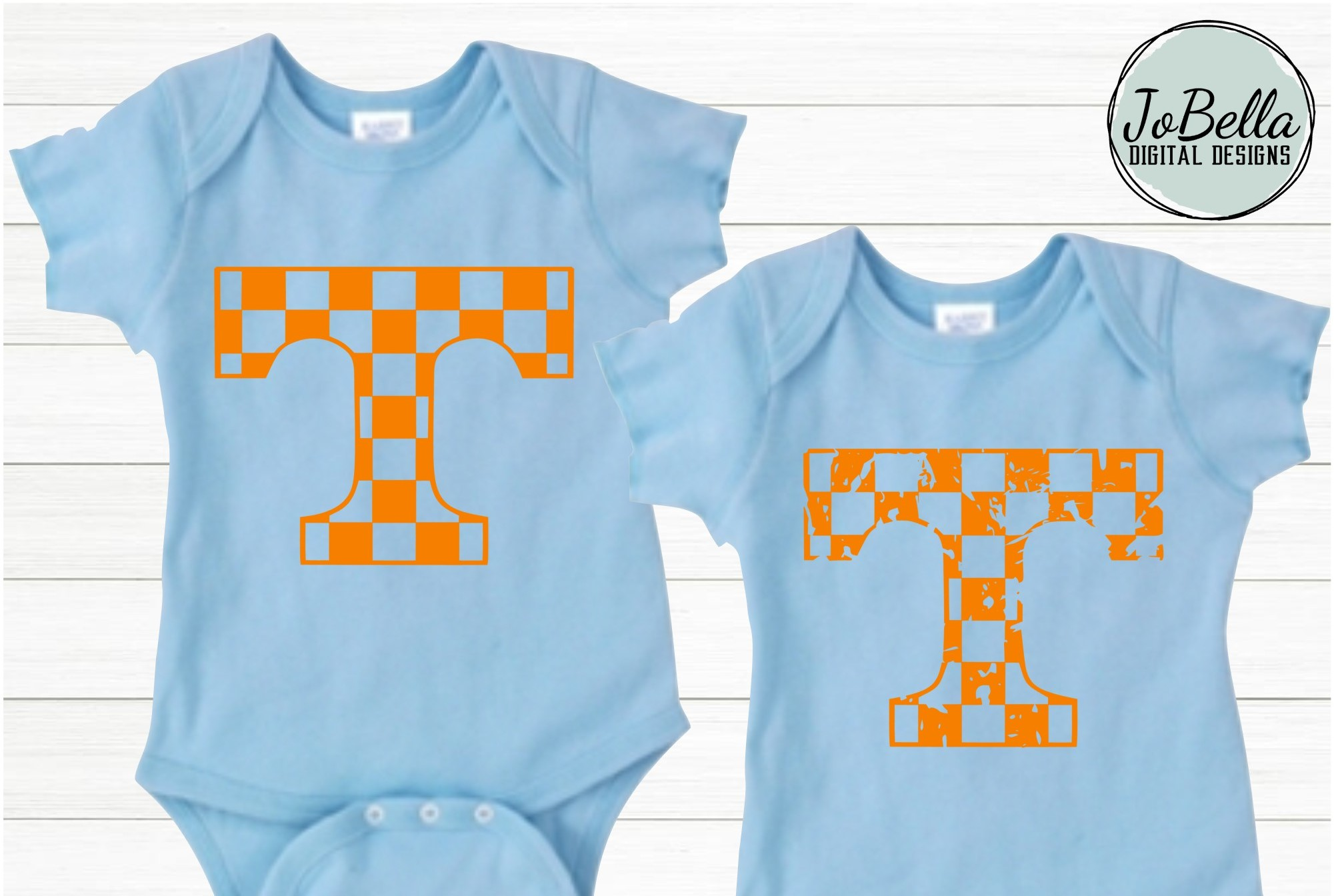 Checkered Tennessee T SVG and Printable Design Bundle example image 2