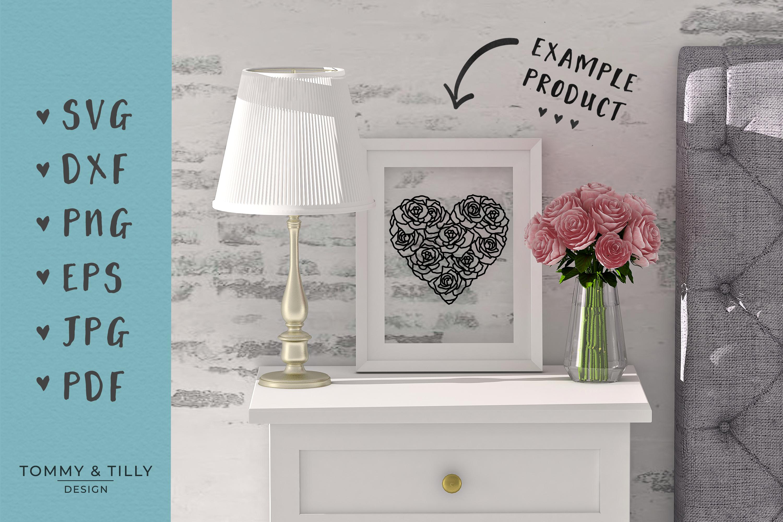 30 Designs! Romantic Hearts Bundle- SVG EPS DXF PNG PDF example image 8