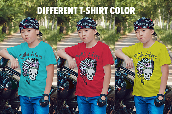 Little Bikers T-Shirt Mock-Up example image 19