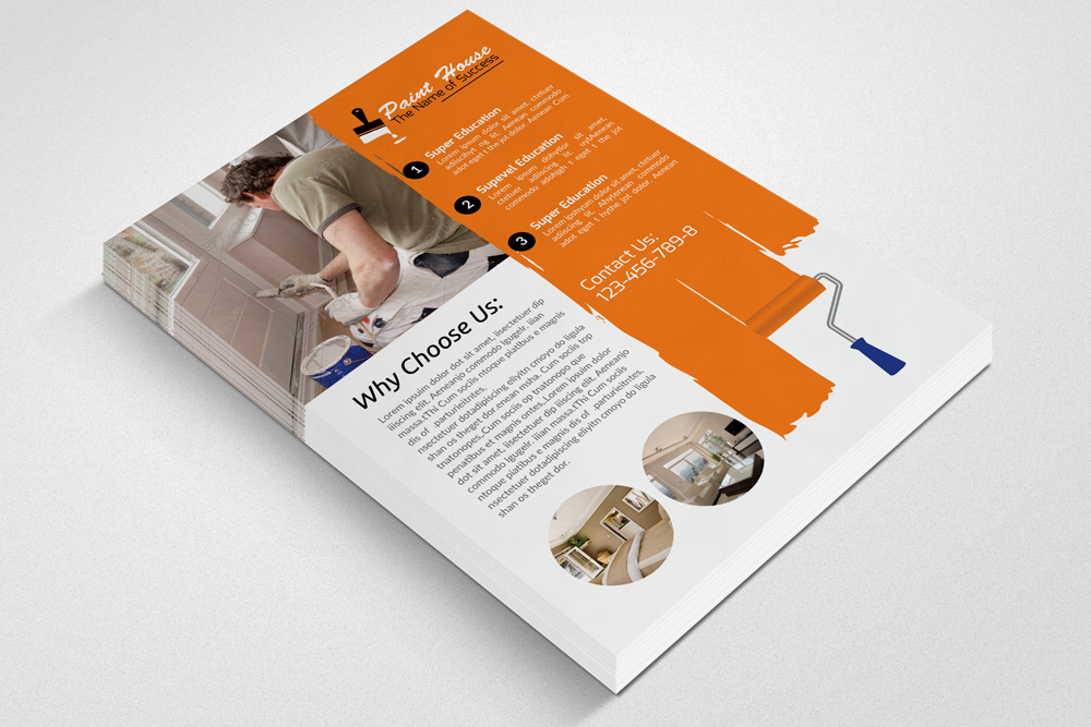 House Paint Service Flyer Template example image 2