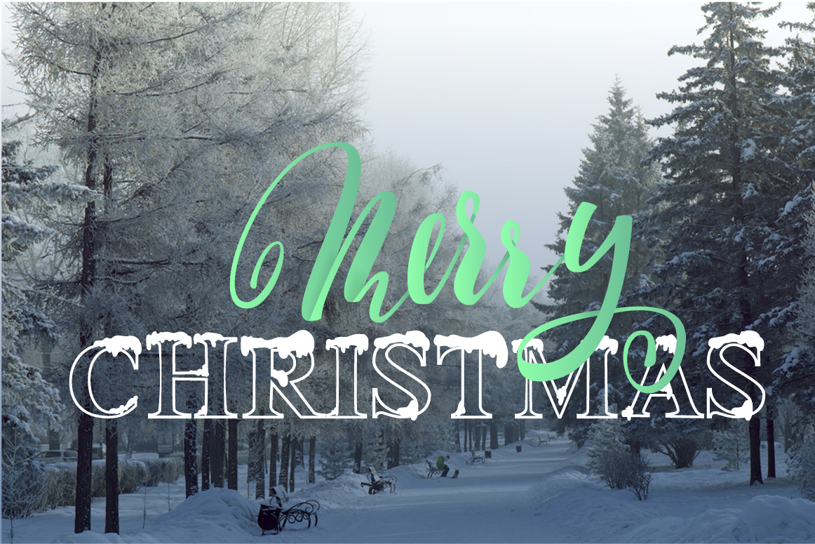Christmas snowy display font example image 4