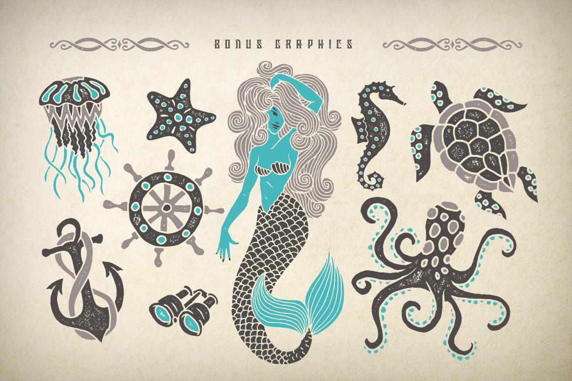 Marine fairytale typeface example image 3