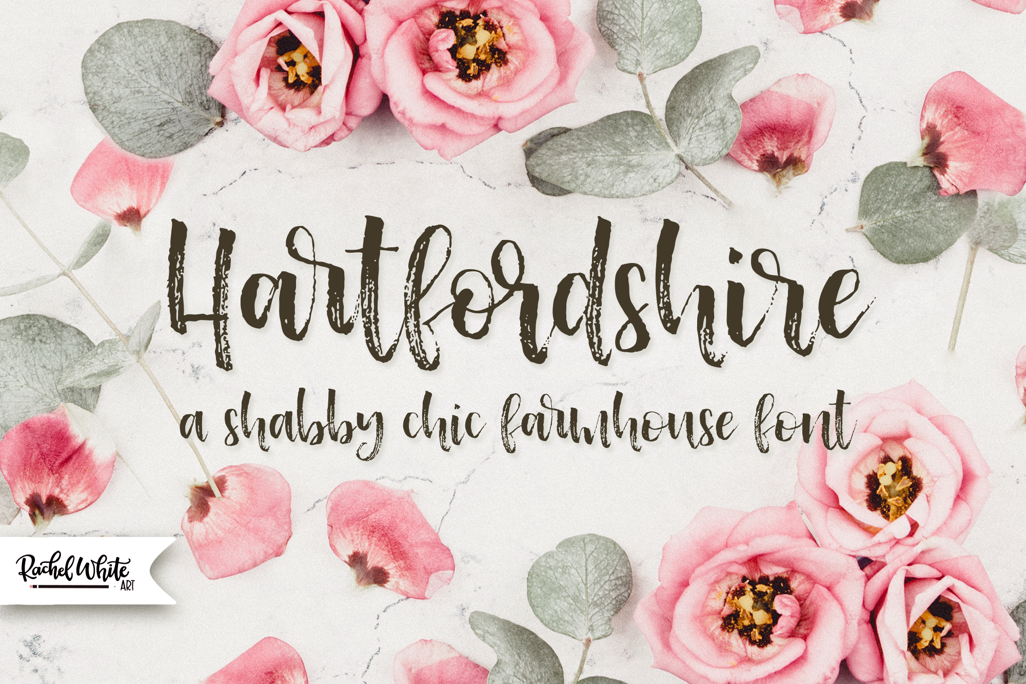 Hartfordshire, a shabby chic farmhouse font example image 4