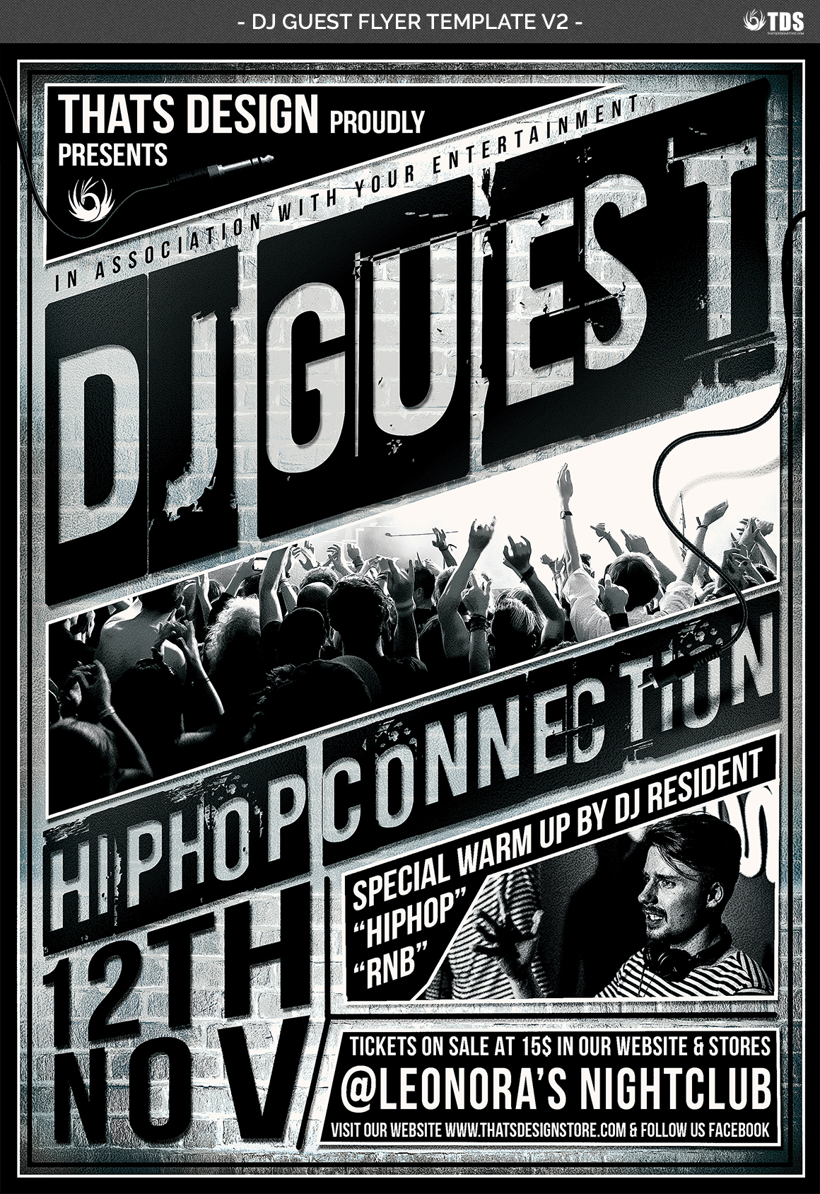 DJ Guest Flyer Template V2 example image 4