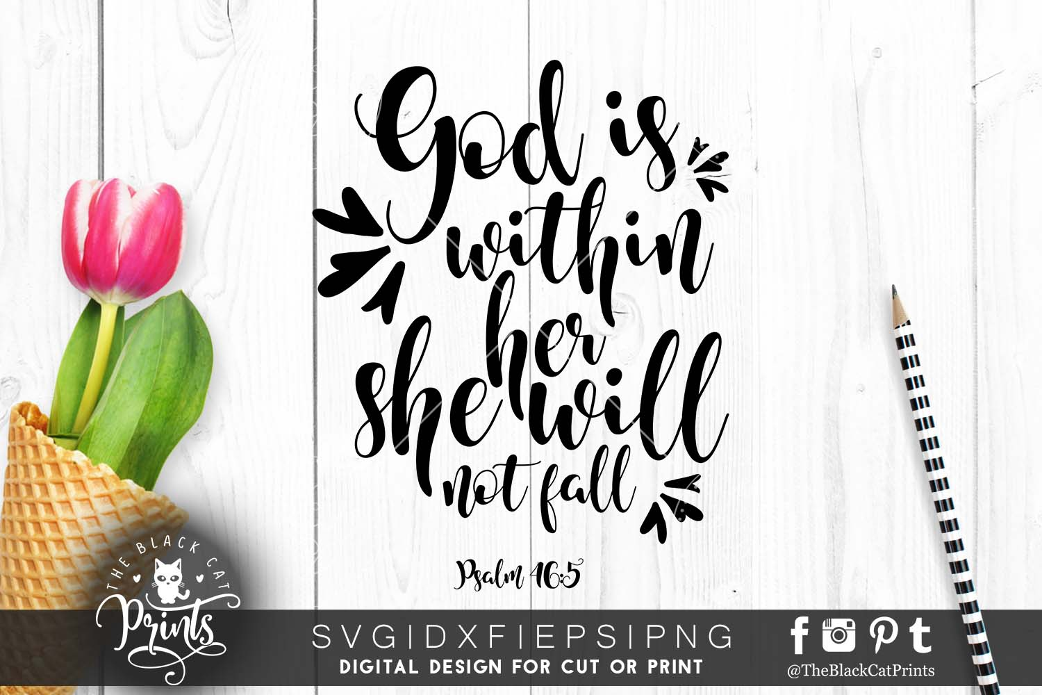 Psalm 465 SVG Bible verse SVG PNG EPS DXF example image 1