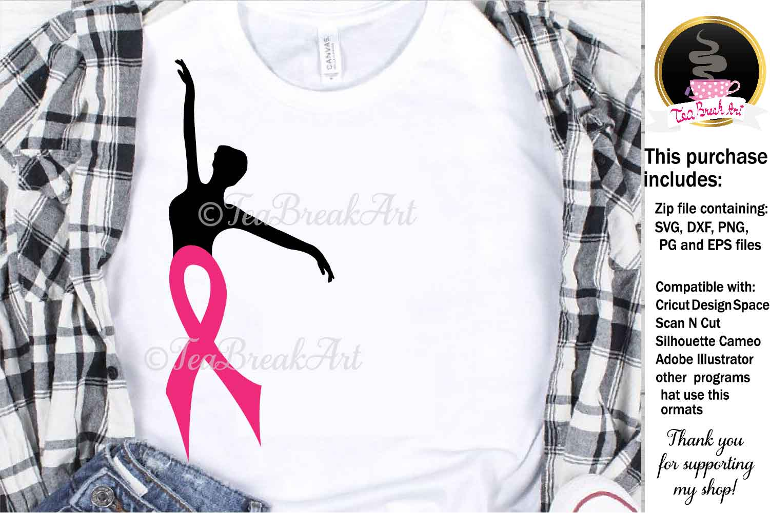 Breast Cancer Awareness Cutting Files 1090 example image 1