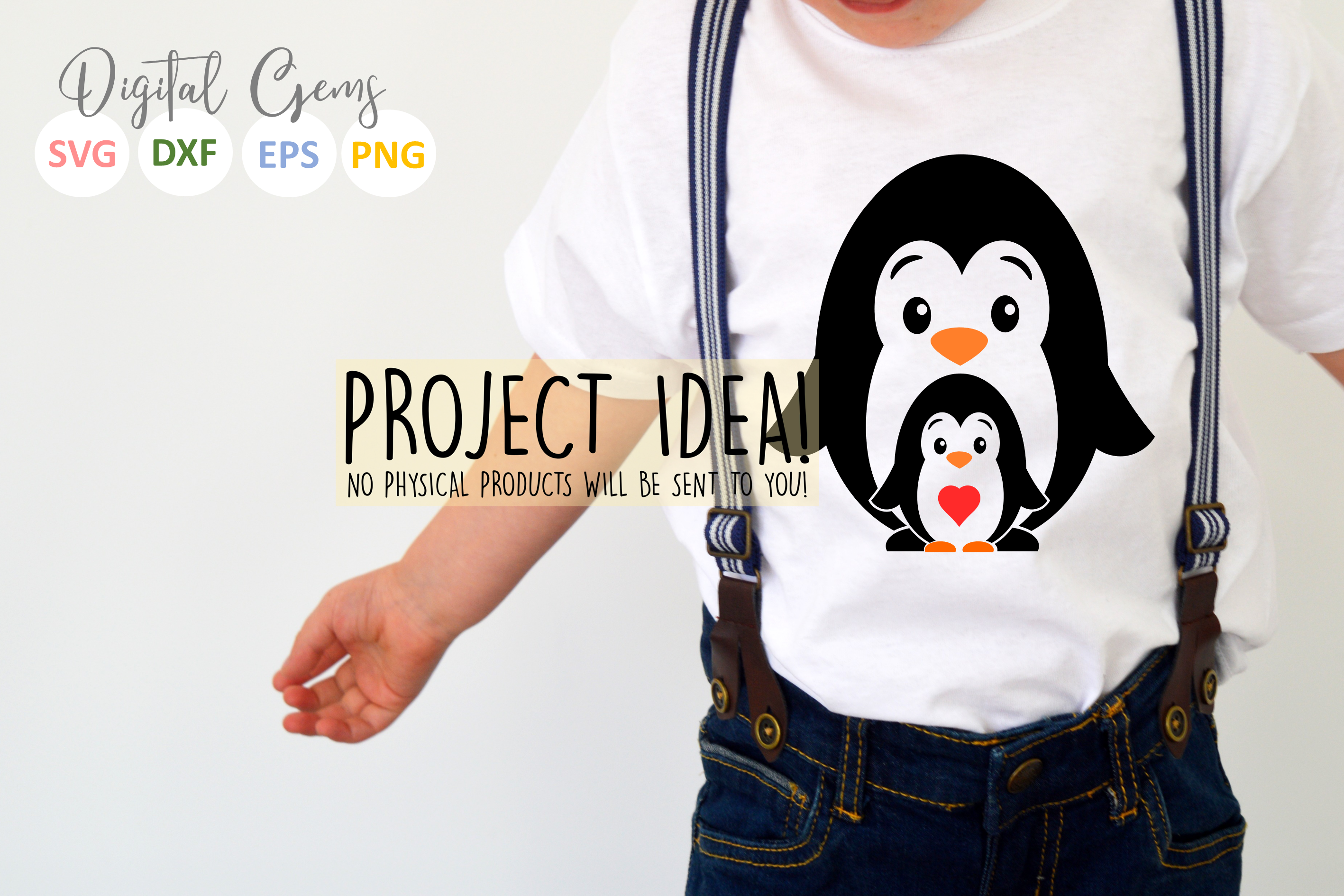 Penguin and baby design example image 2