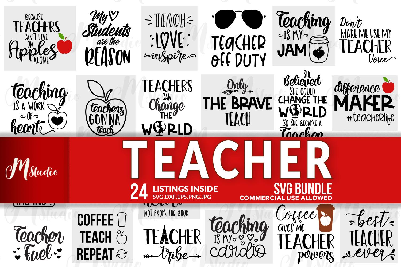 Teacher SVG Bundle. example image 1