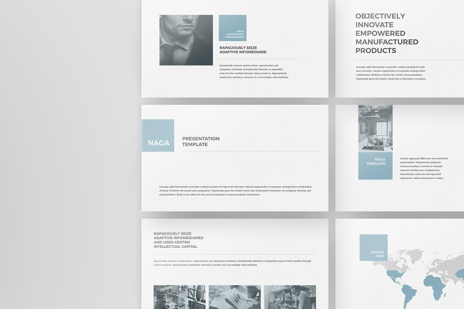 Naga - PowerPoint Template example image 1