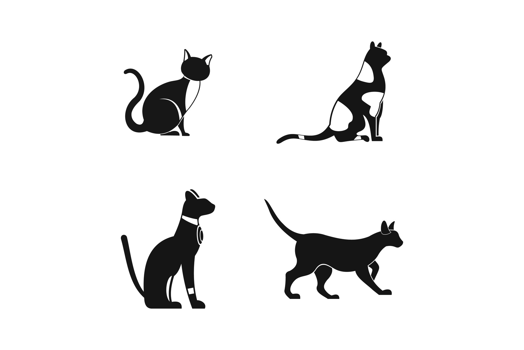 Cat icon set, simple style example image 1
