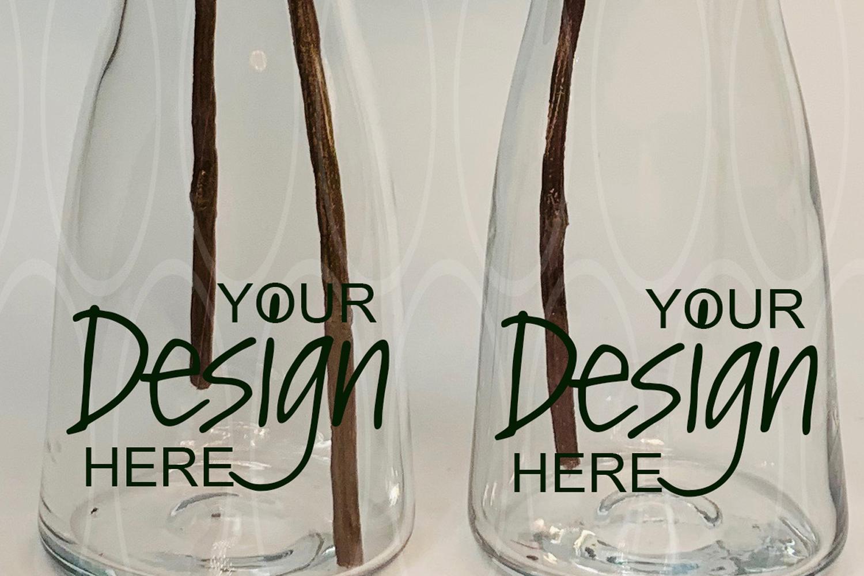 Blank Stylish glass vases Mockup Photographs Product Mock up example image 1