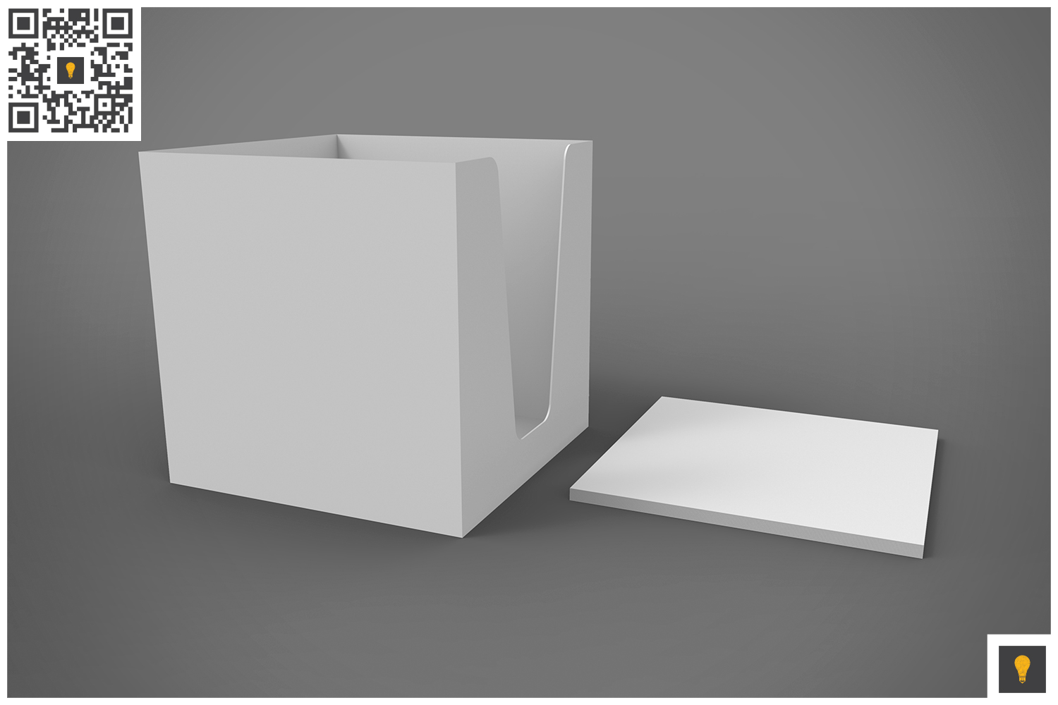 Notepad Holder & Notes 3D Render example image 3