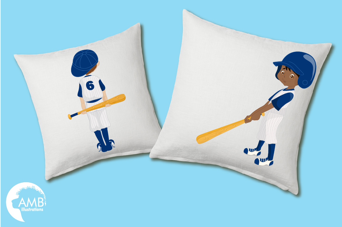 Baseball team, baseball players, graphics, illustrations AMB-1227 example image 4