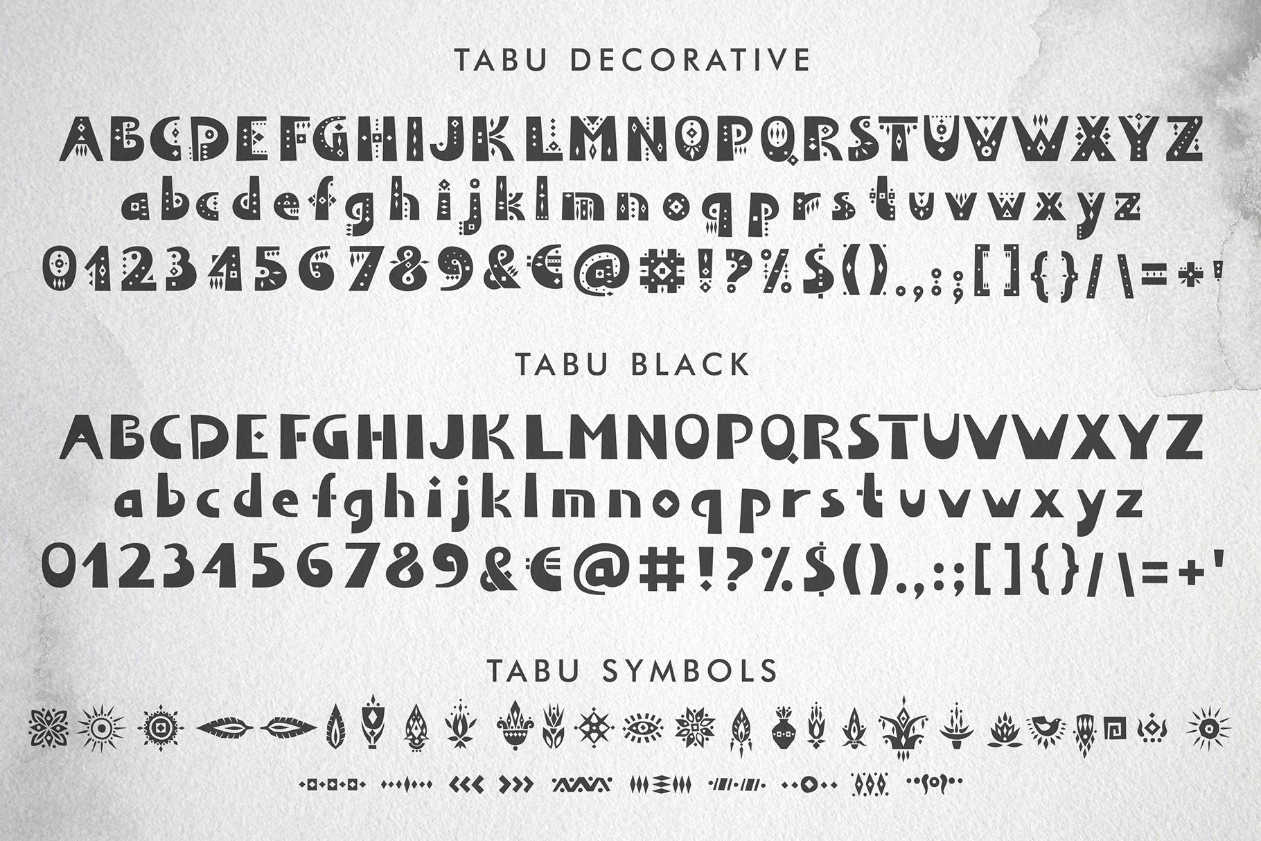 Tabu - Tribal Font Family example image 4