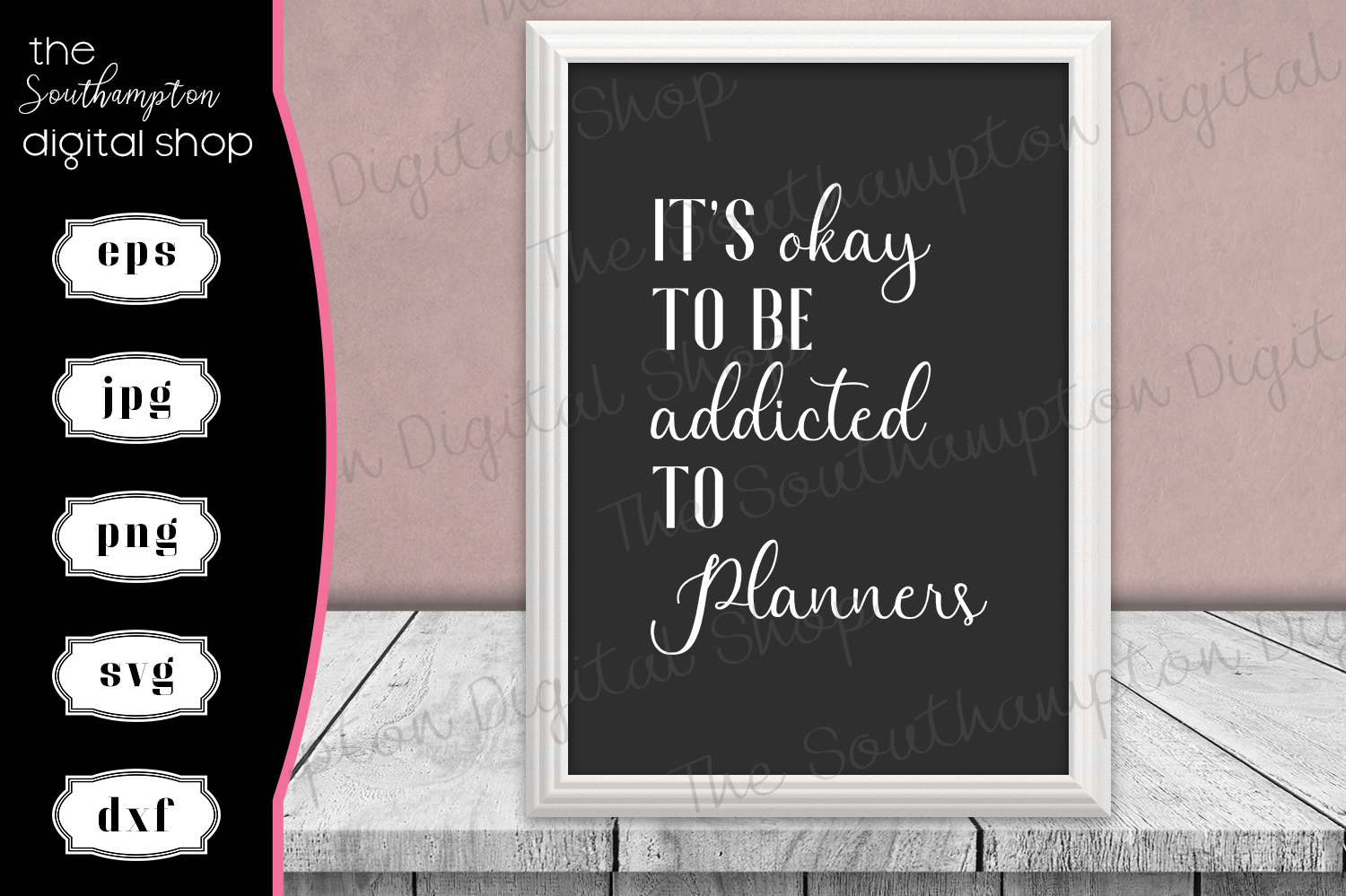 Funny Planner Addict Quote example image 1