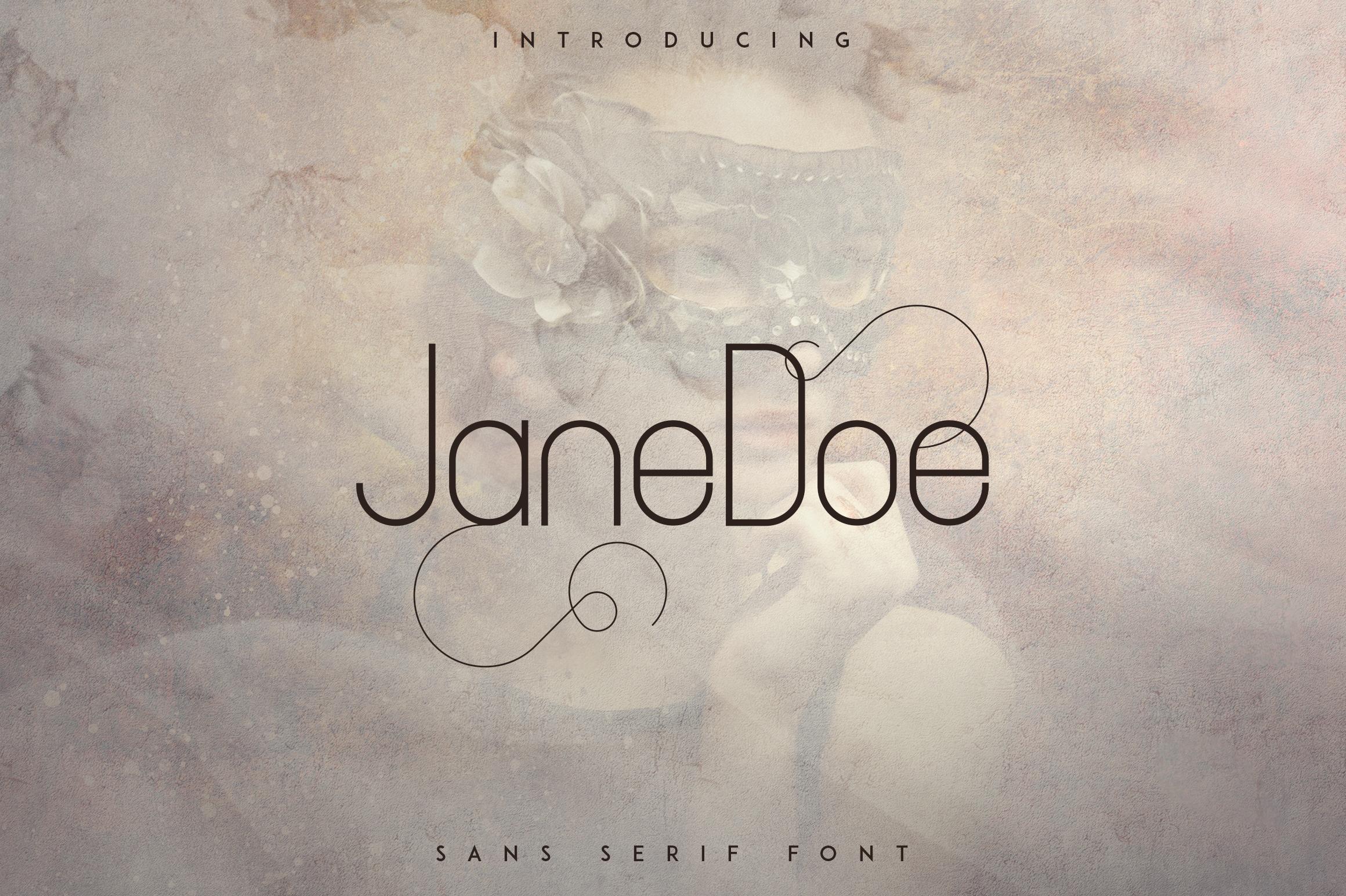 JaneDoe Sans Serif font example image 1