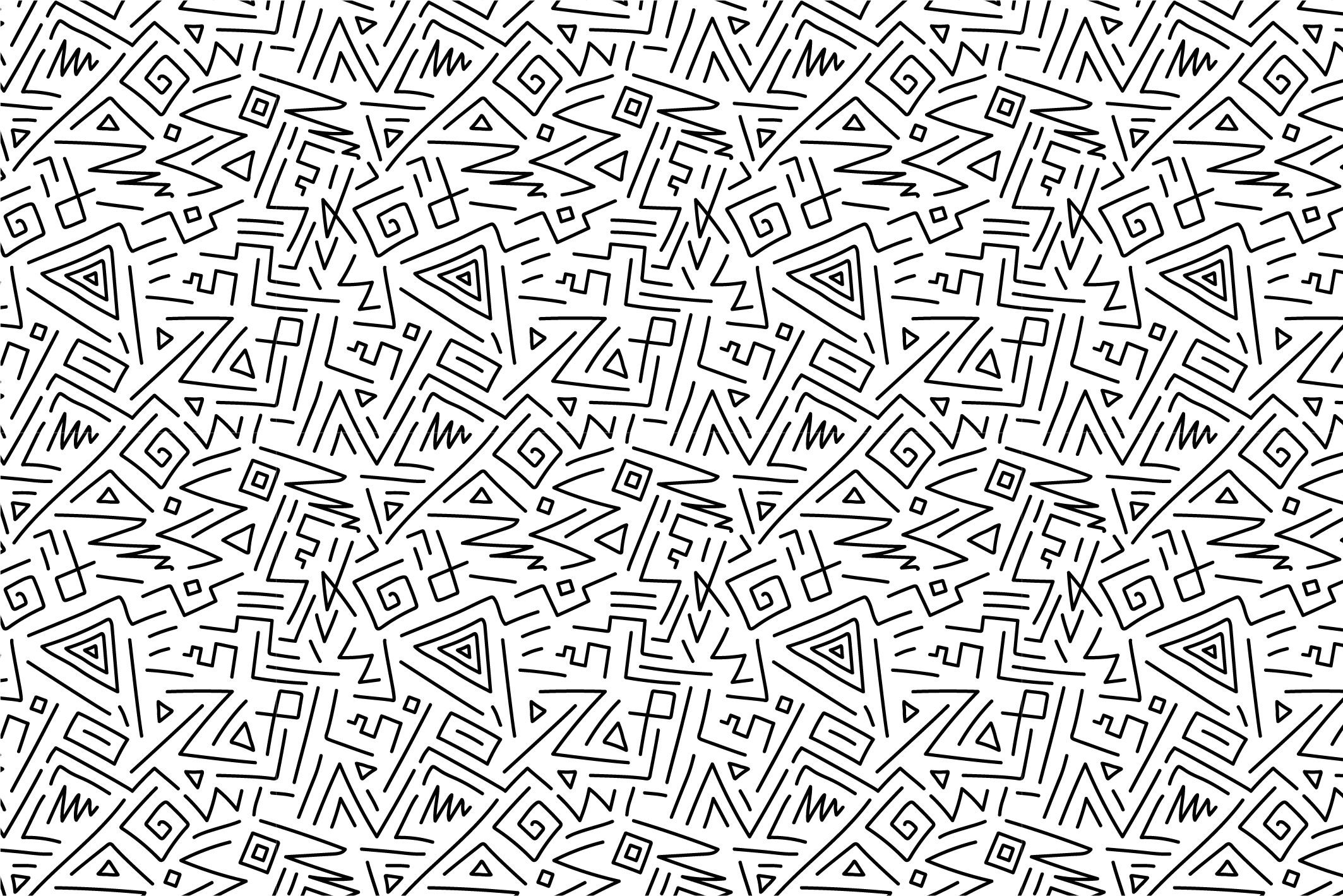 Hand drawn seamless curly patterns. example image 13