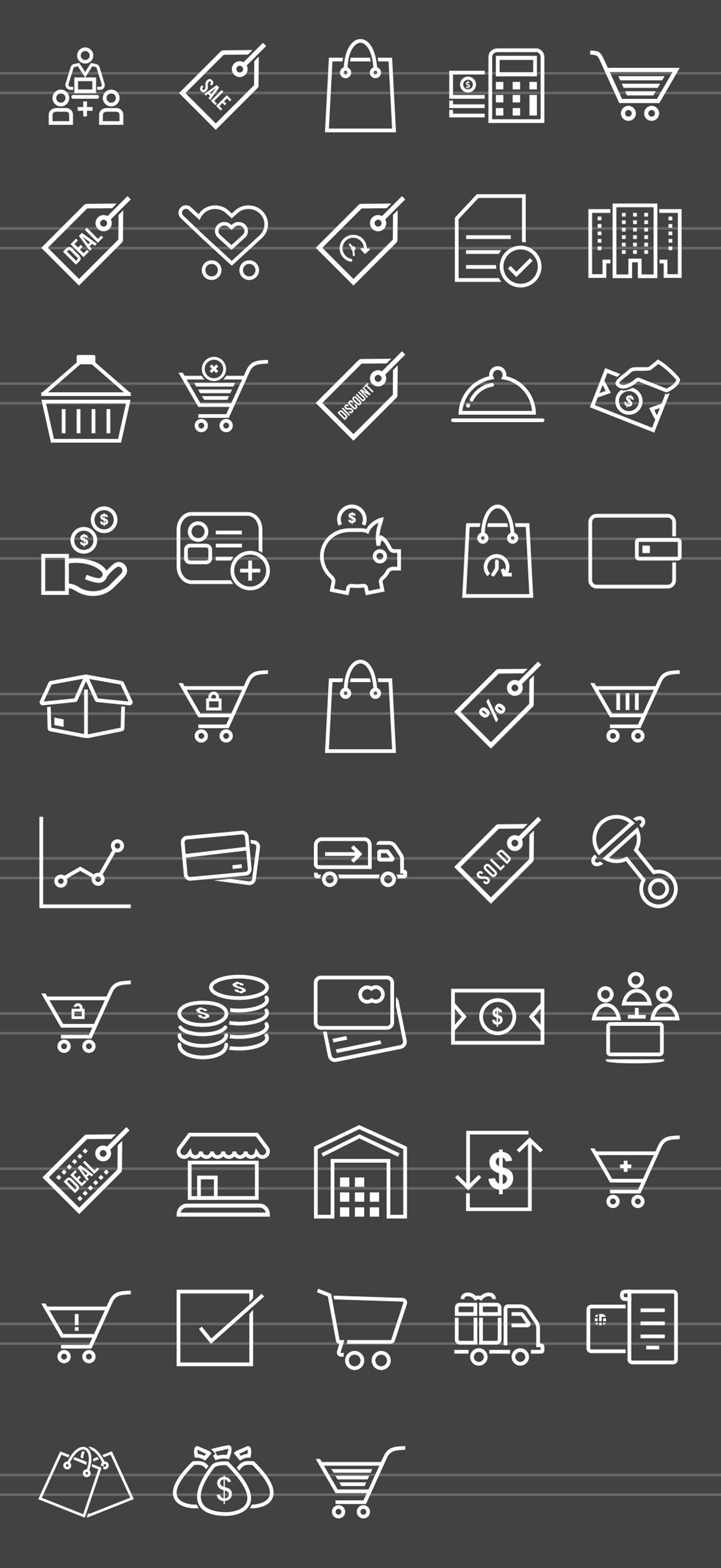 48 Ecommerce Line Inverted Icons example image 2