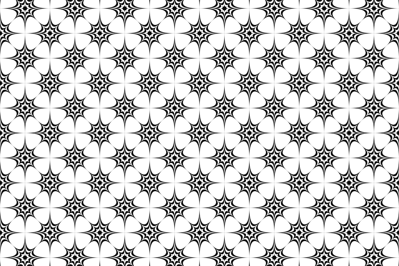 15 monochrome star patterns (EPS, AI, SVG, JPG 5000x5000) example image 3