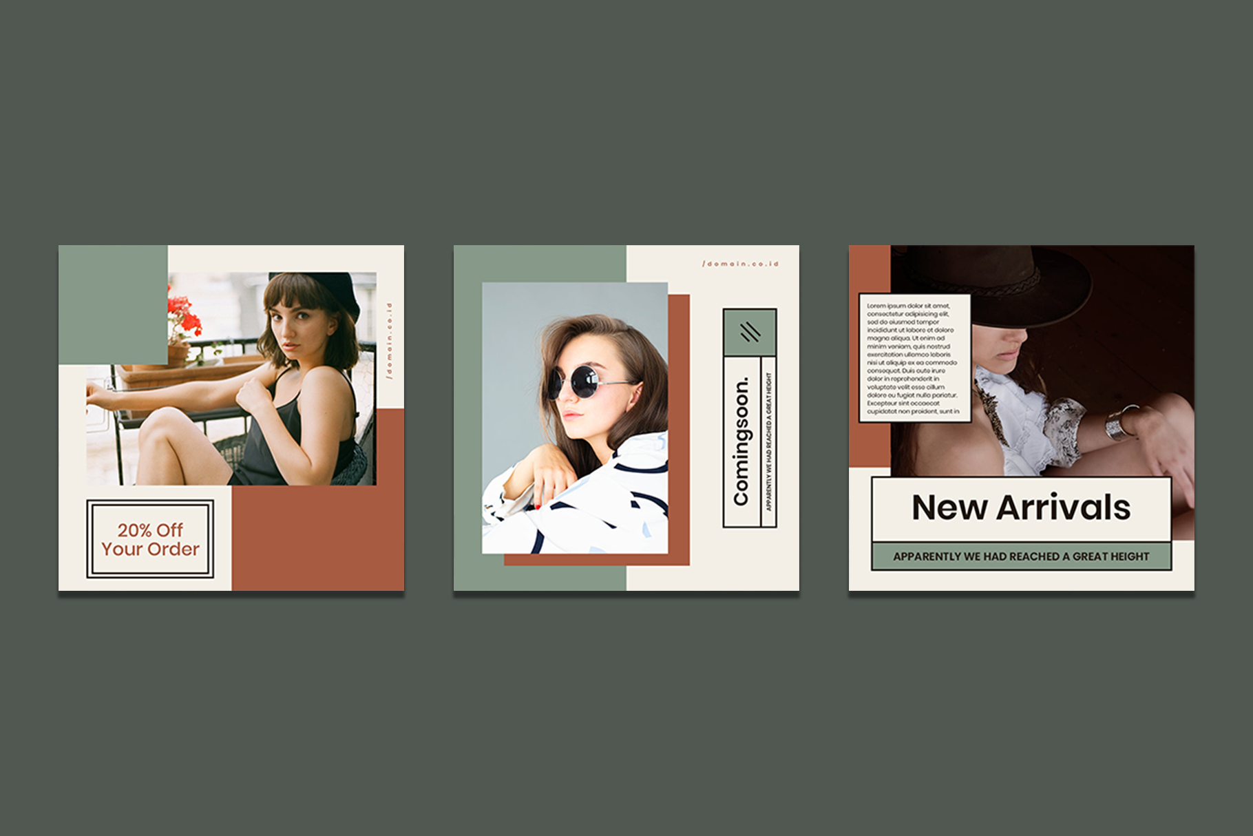 Fashion Instagram Templates example image 8