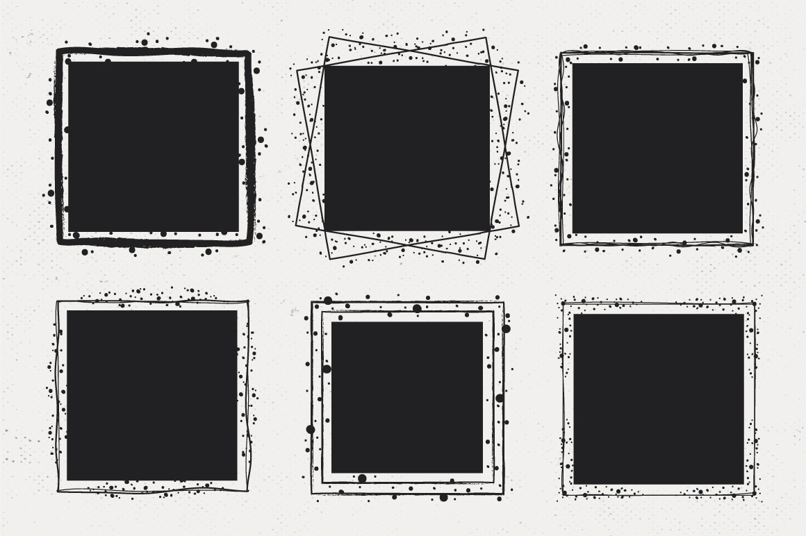 36 Hand Drawn Square Shapes - logo elements example image 5