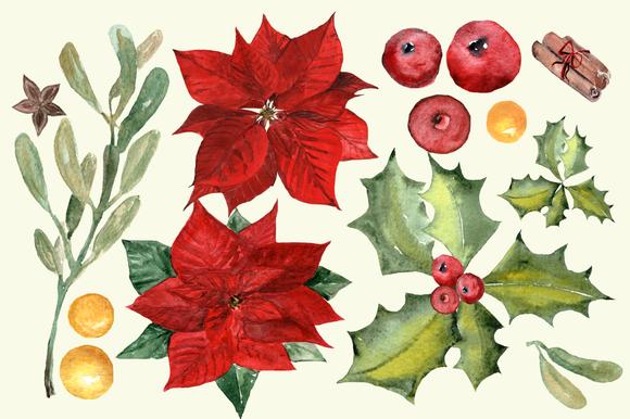 Winter Joy - 35 Watercolor Set example image 3