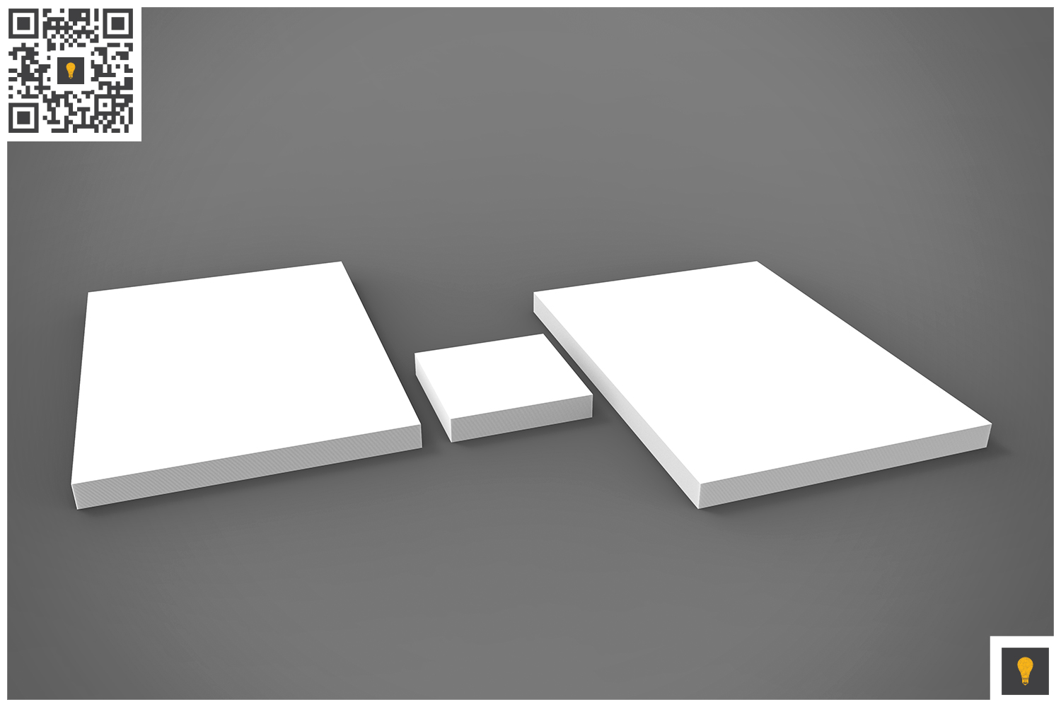 Branding Stationary 3D Render example image 14