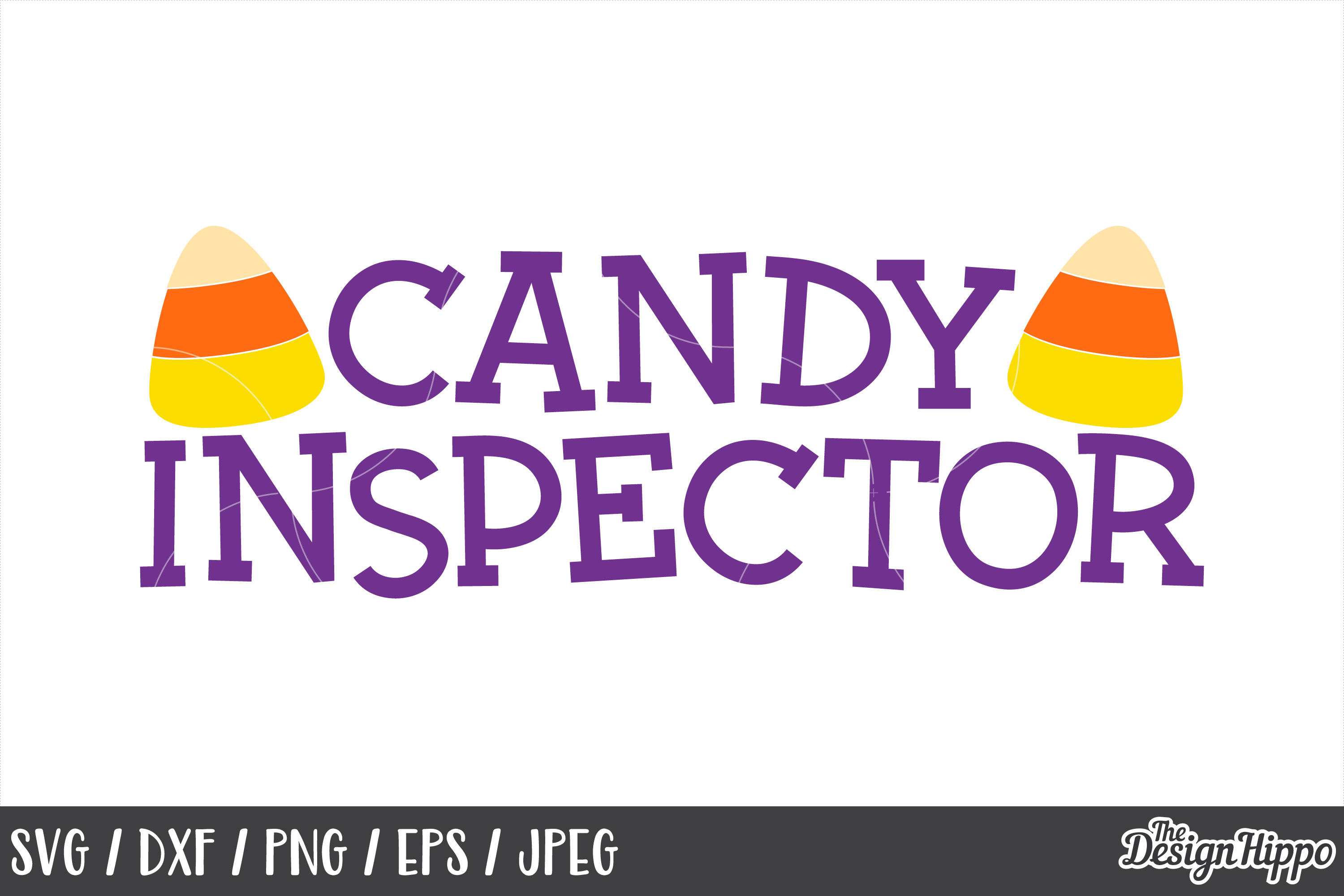 Candy inspector SVG, Candy corn, Cute, Halloween, SVG, PNG example image 1
