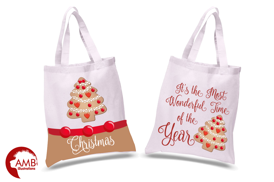 Christmas Cookie Clipart, GRAPHICS, ILLUSTRATIONS AMB-1502 example image 2