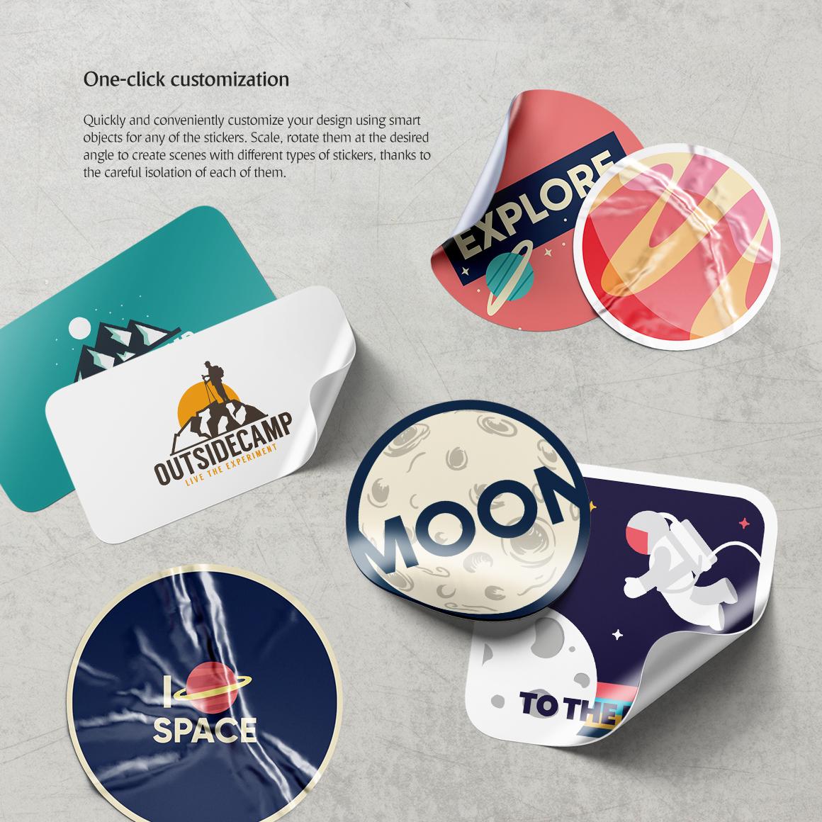 Stickers Mockups Set example image 2